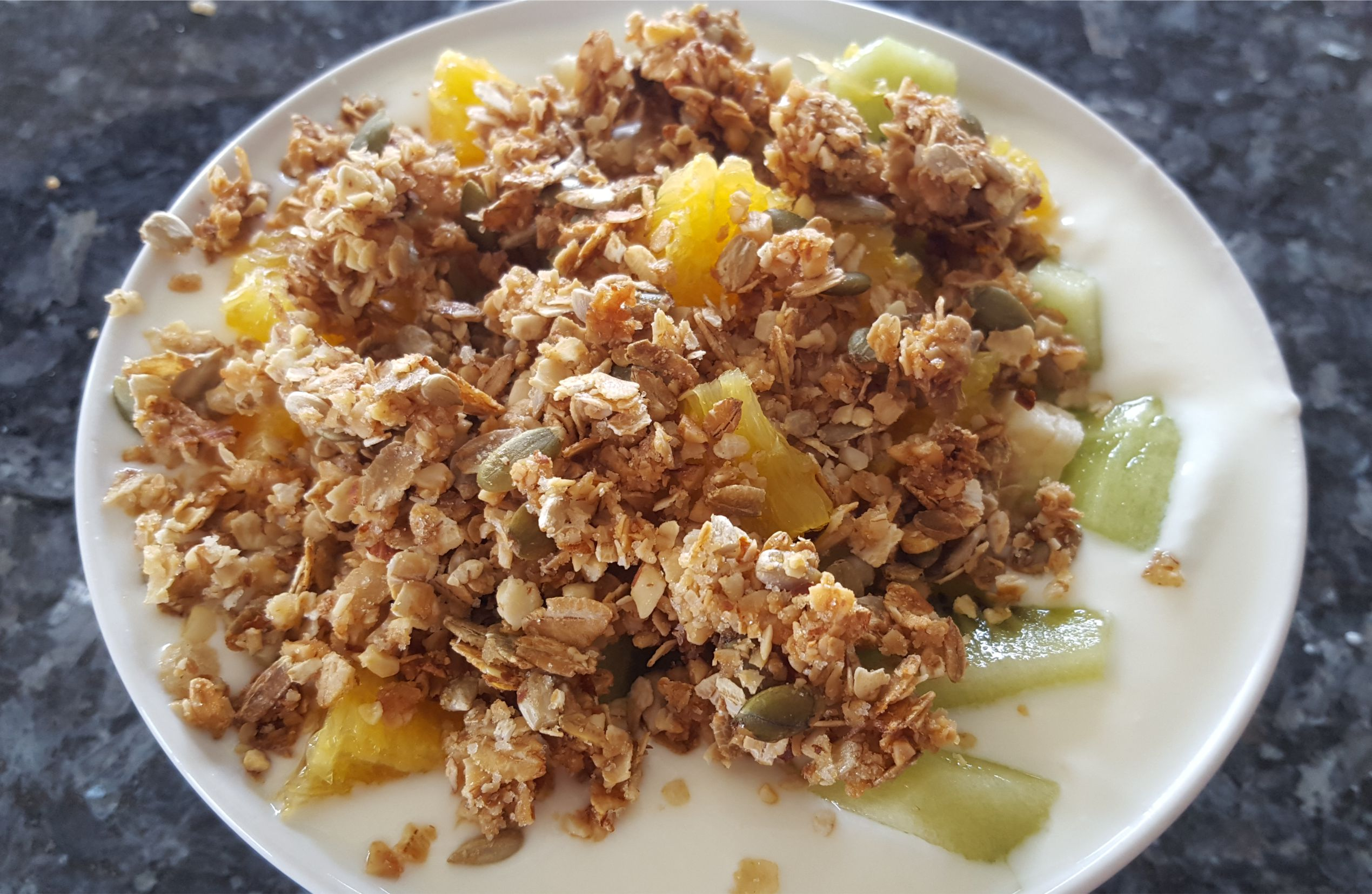 Homemade Muesli breakfast cereal. MomMadeMoments.com