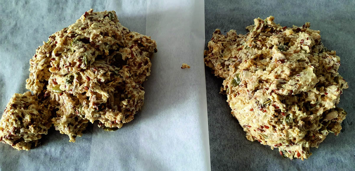 Healthy Crackers with 4 types of seeds and olive oil