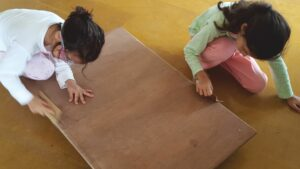 DIY for kids -making a lego table for storing toys