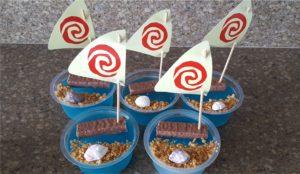 Moana Party Food Blue Jelly with ship