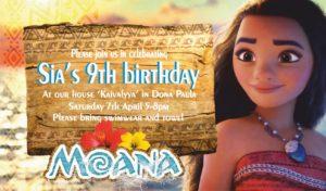 Moana Party Decorations Moana invitation