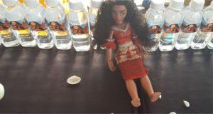 Moana Party Water Bottle Sticker