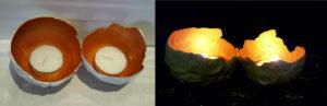 Tea Light Holder White Cement DIY for kids