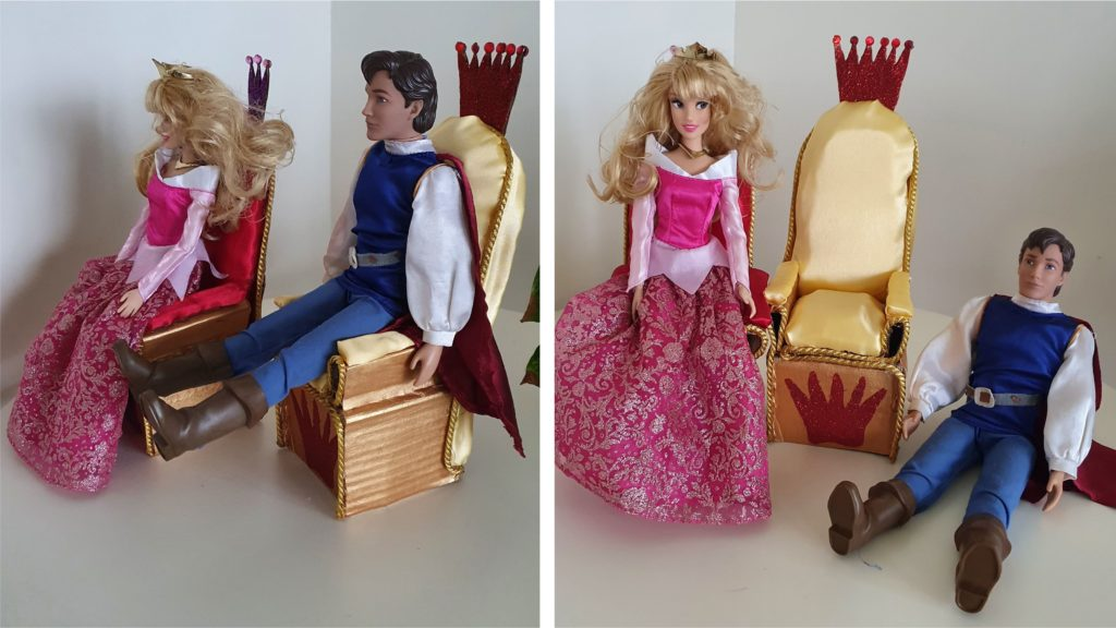 Best out of waste Barbie doll princess throne