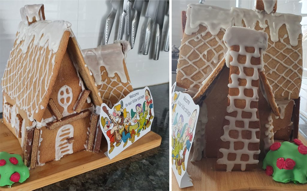 Snow White Themed Food Ideas Dwarves gingerbread house