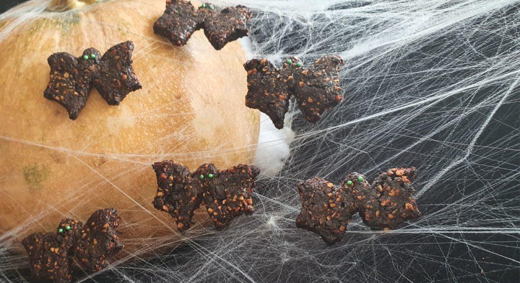 Bat Cookies Healthy and Easy Halloween treats