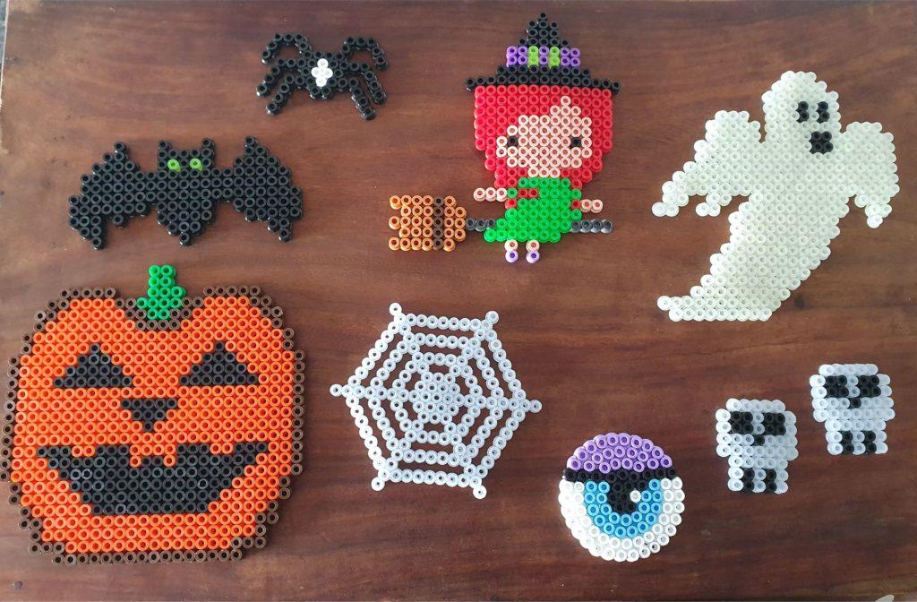 Halloween hama beads perler designs