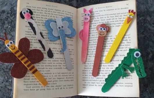 DIY Animal Bookmarks Ice Cream Stick Craft Bookmark Easy Craft for kids
