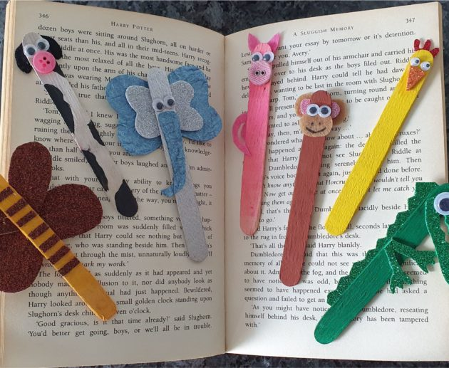 Ice Cream Stick Craft Bookmark Easy Craft for kids