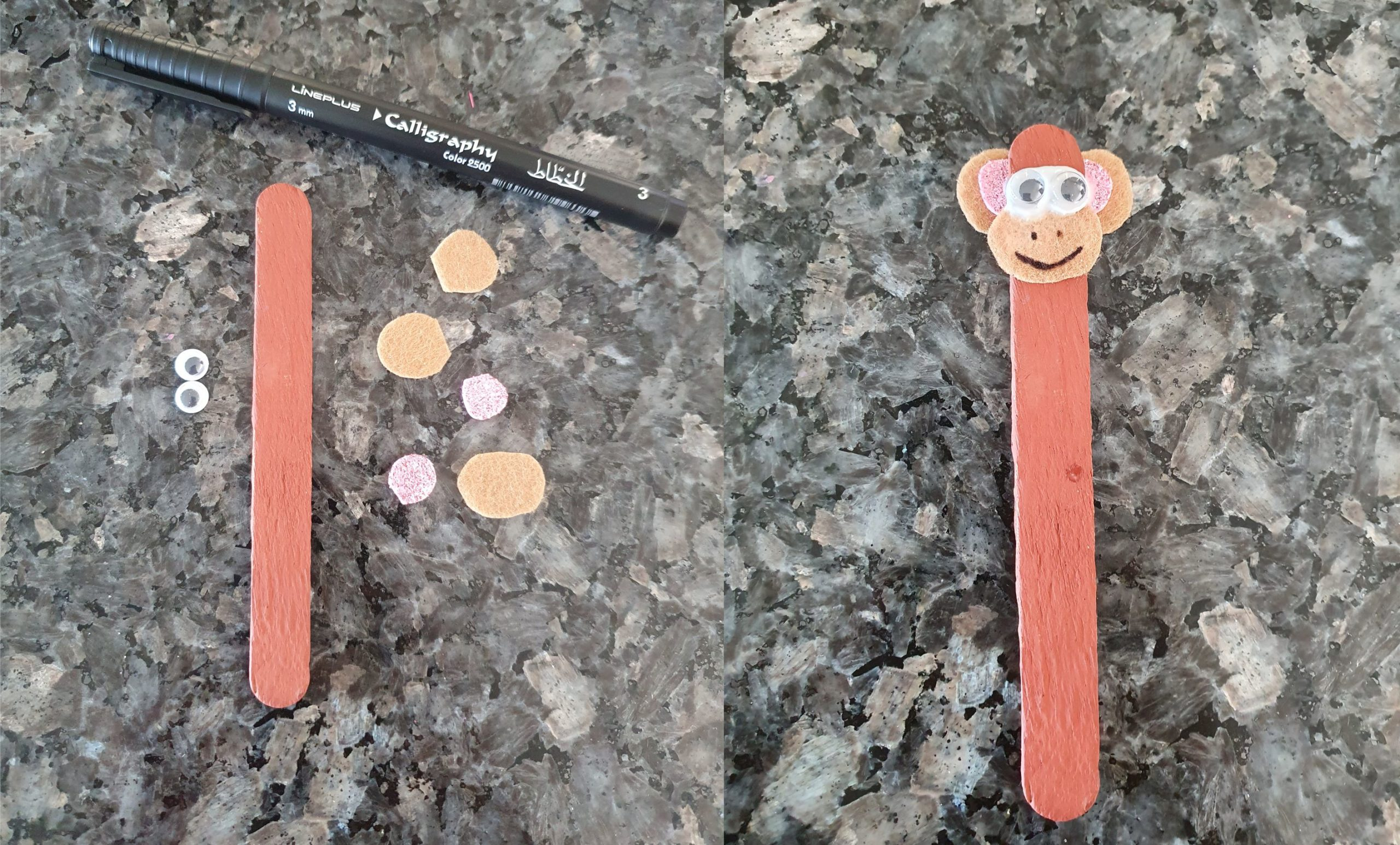 Ice Cream Stick Craft Bookmark Easy Craft for kids