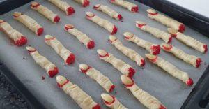 Severed Finger Biscuits Halloween Cookies
