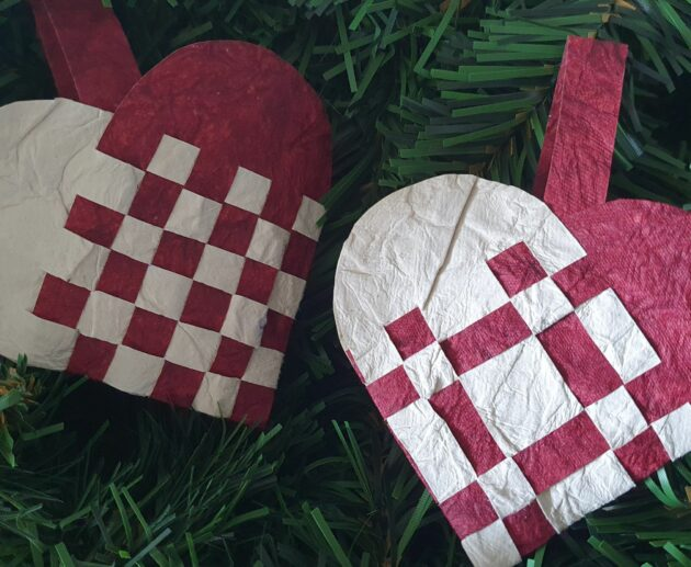 Flettede Julehjerter Pleaded Christmas Hearts How to Make it