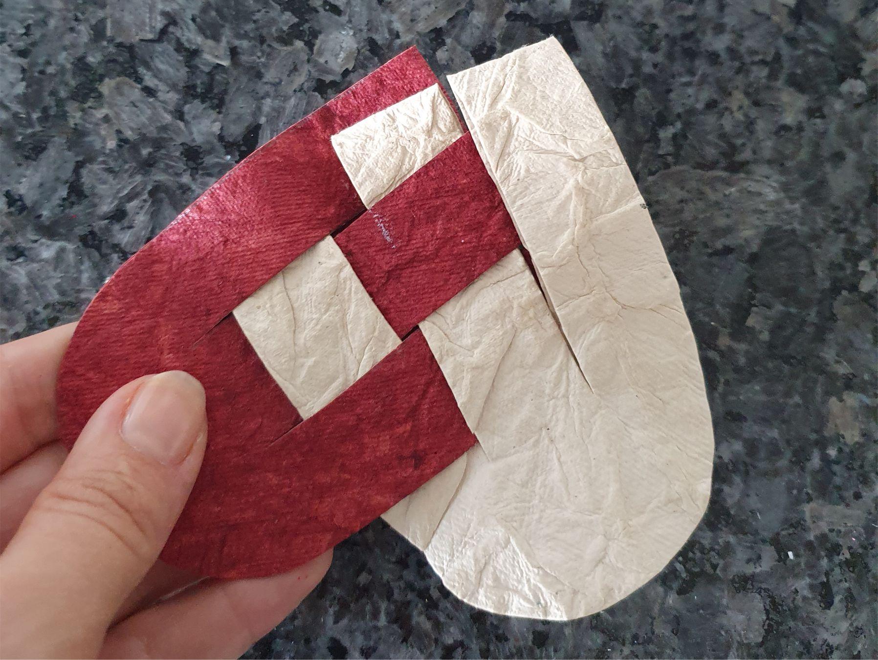 Flettede Julehjerter Pleaded Christmas Hearts How to Make it