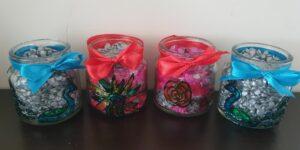 Painted Glass Diya DIY for kids for Diwali DIY