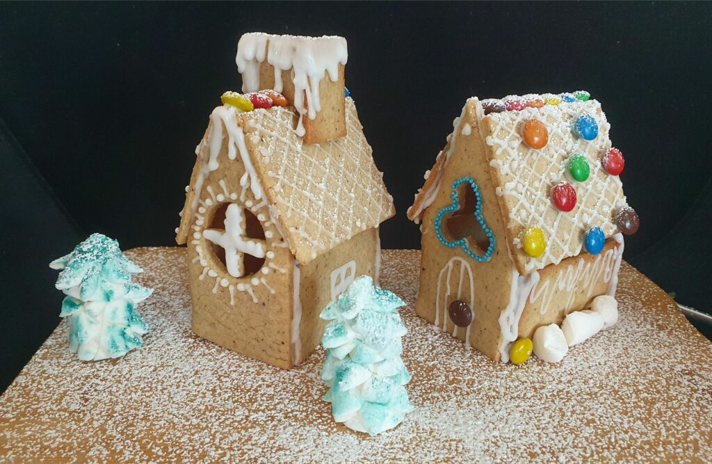 Gingerbread house easy for kids to do Christmas activity Christmas fun MomMadeMoments Danish Gingerbread Cookies