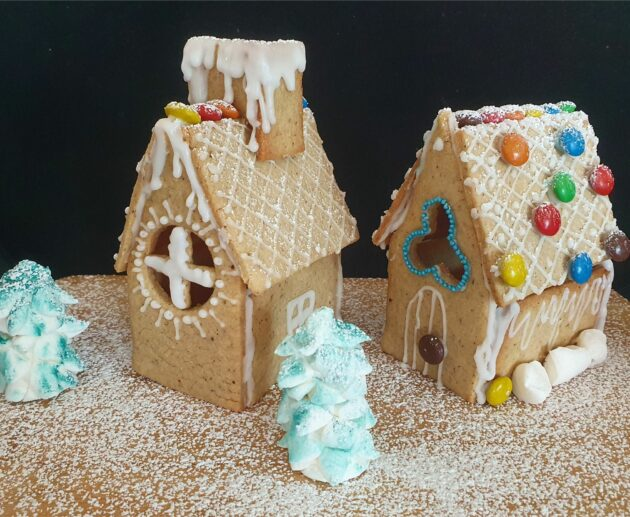 Gingerbread house easy for kids to do Christmas activity Christmas fun MomMadeMoments
