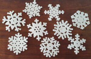Hama bead snowflakes MomMadeMoments