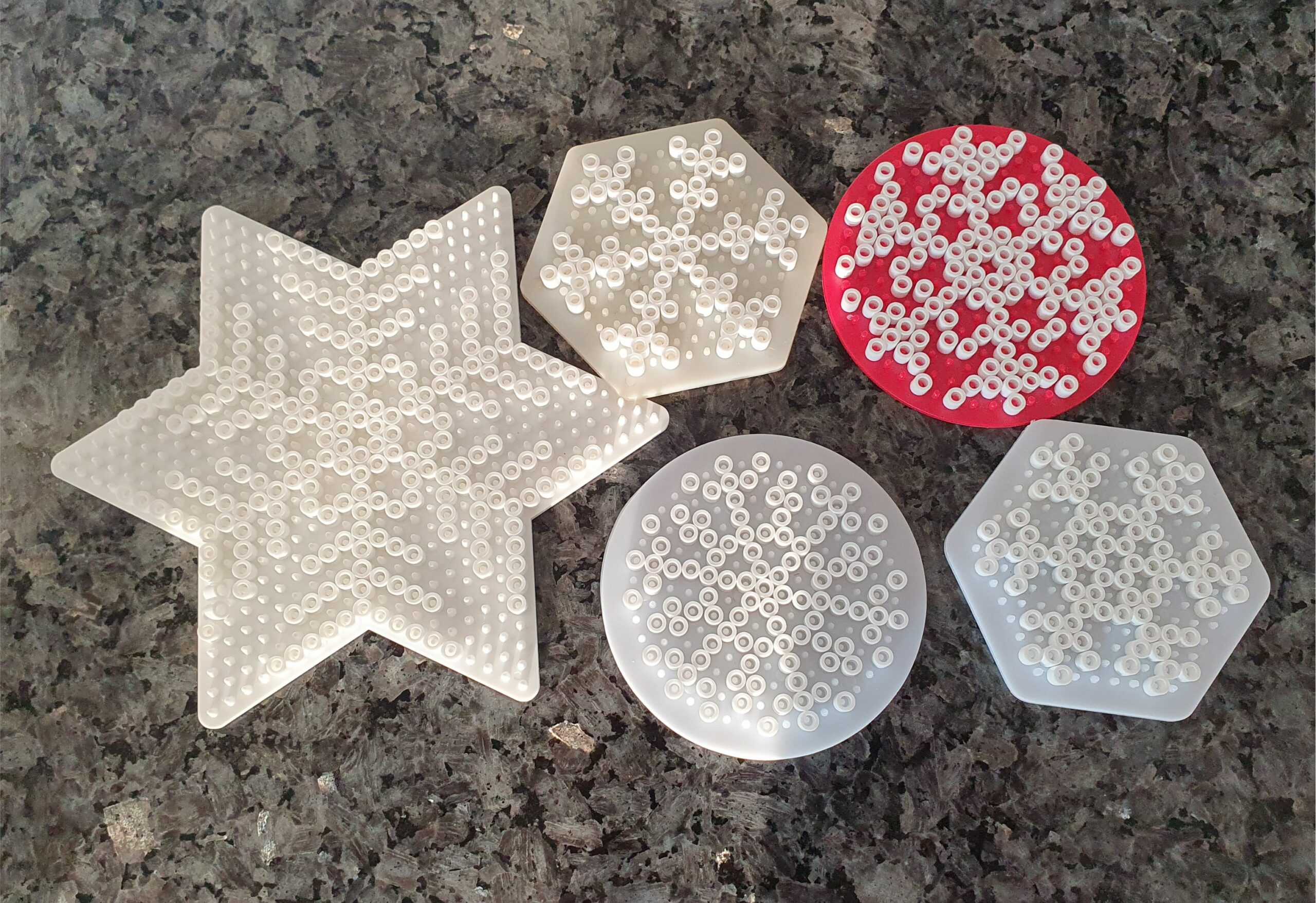 Hama perler beads snowflakes MomMadeMoments