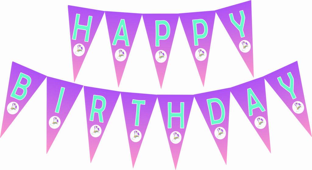 unicorn birthday banner FREE printable