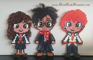 Harry Potter Perler Beads Harry Potter, Ron Weasley and Hermione Granger