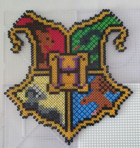 Hogwarts Emblem Seal Harry Potter Perler Beads