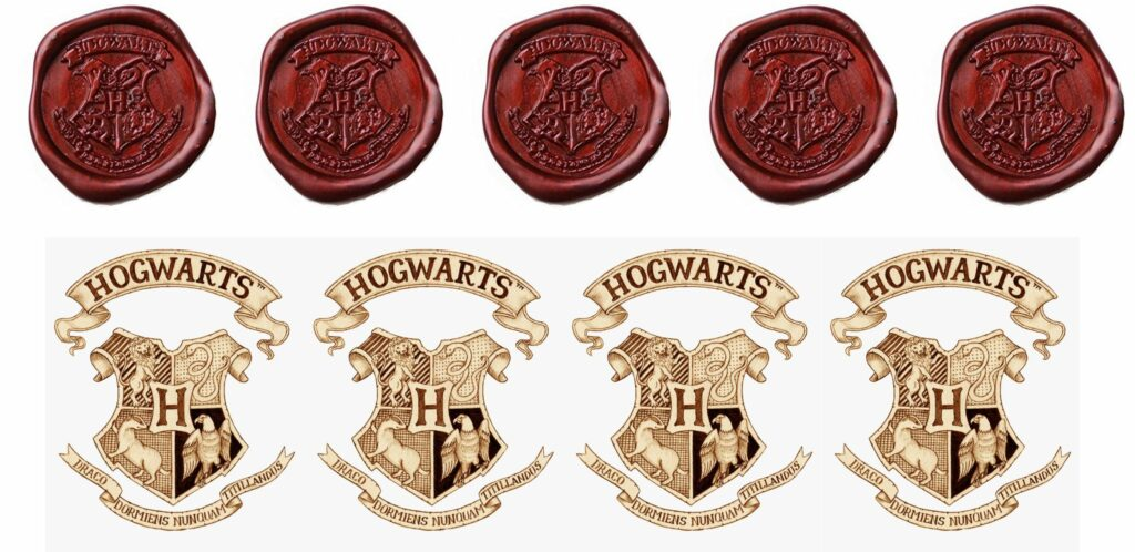 The ultimate Harry Potter Party Invitation Hogwarts Seal and Stamp