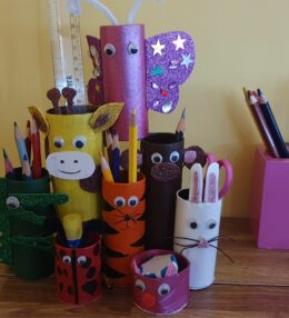Best Out of Waste Animal Pencil Holder