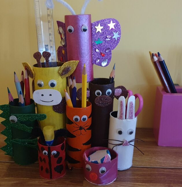 Best out of waste pencil holder