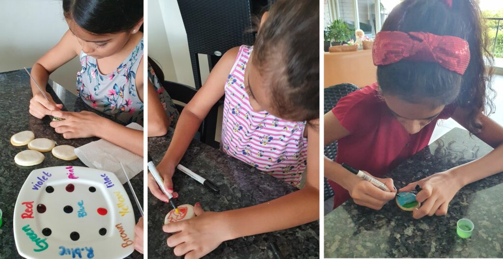 Cookie Painting with kids