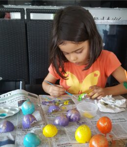 Eggshell Art for kids MomMadeMoments Creativity