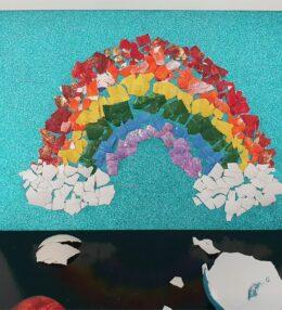 Eggshell Mosaic Art for Kids
