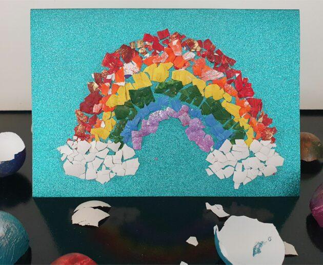 Eggshell Art for kids MomMadeMoments Creativity