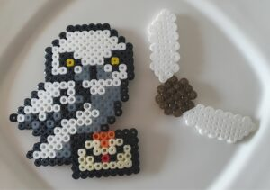 Hedwig Owl and Golden Snitch Harry Potter Perler Beads
