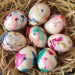 Marbled Easter Eggs for kids