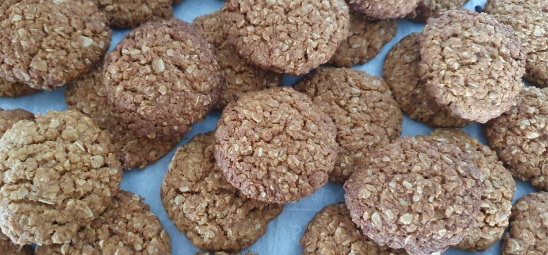 Oatmeal, honey, coconut cookies 1