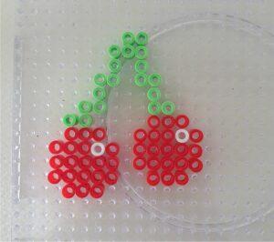 Perler Beads Fruit Magnets Cherry