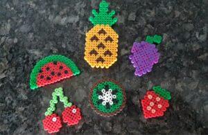 Perler Beads Fruit Magnets